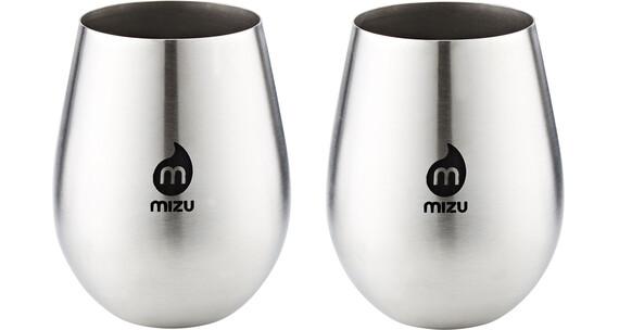 MIZU Wine Cup - Gourde - Pair with Black Print argent